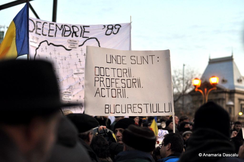 Piata Revolutiei - 15 ianuarie 2012