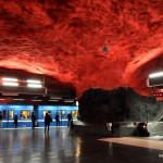 Solna Centrum subway station in Stockholm